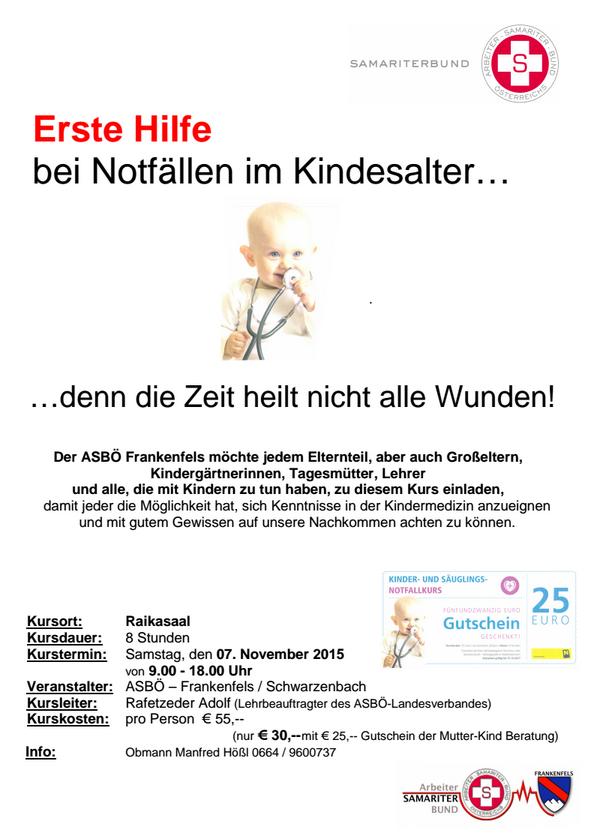 Kindernotfallkurs 2015
