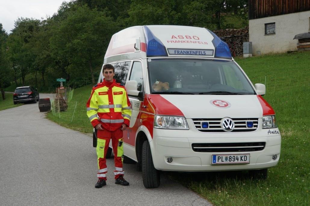 Martin Hösl beim Eibeck-Ambulanzdienst
