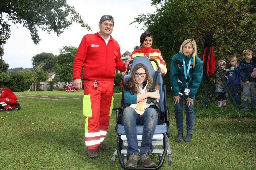 NÖ Katastrophenübung 2017 - Unsere Sanis Andreas Hochreiter und Melanie Pfeffer.
