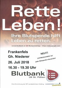 Blutspenden in Frankenfels