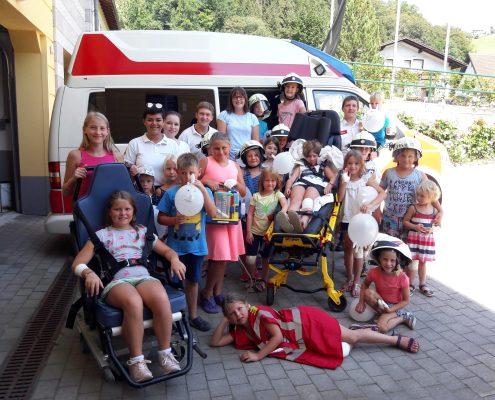 Gruppenfoto: Ferienprogramm für Kinder Frankenfels 2018