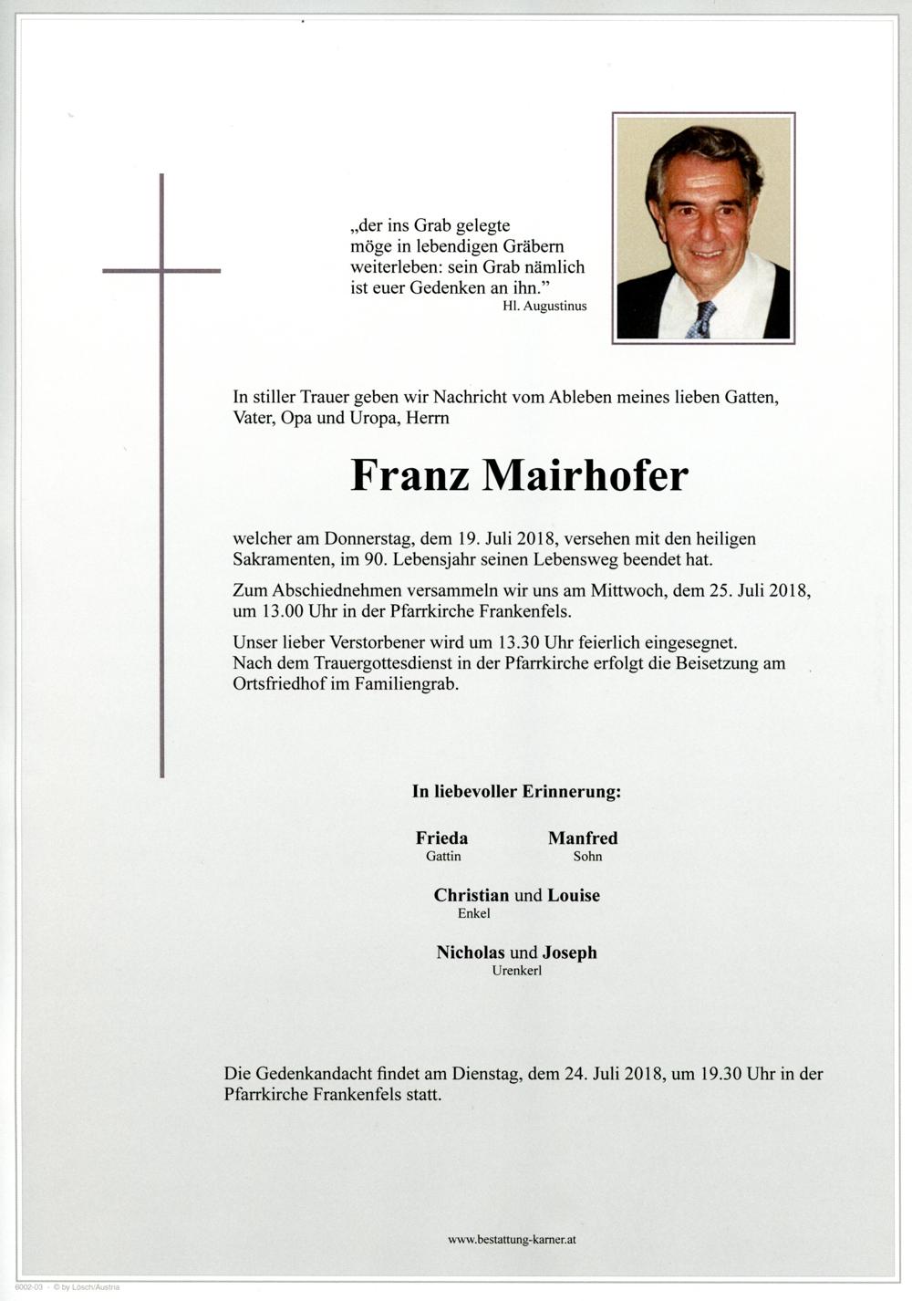 Mairhofer Franz Parte