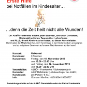 Plakat Kindernotfallkurs